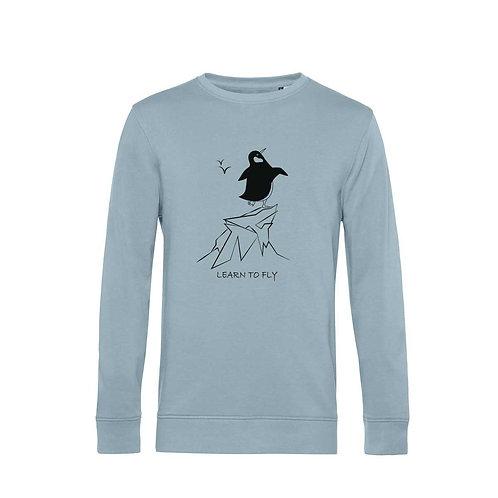 Organic Sweatshirt Blue Fog - Pinguino