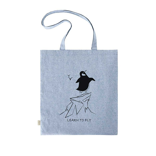 Recycled Shopper Blue Fog - Pinguino