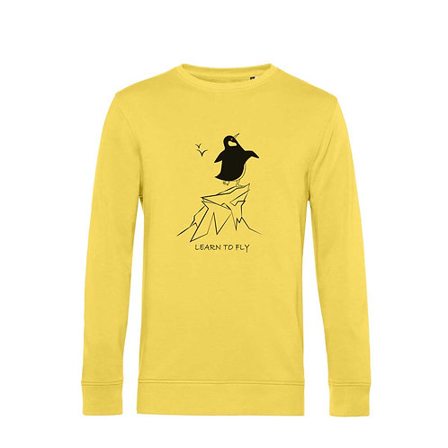 Organic Sweatshirt Yellow - Pinguino