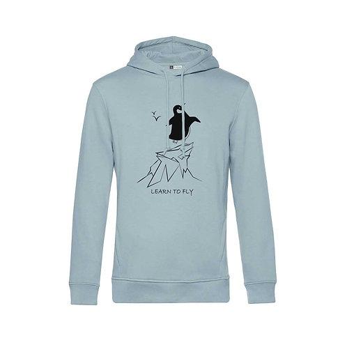 Organic Hoodie Blue Fog - Pinguino