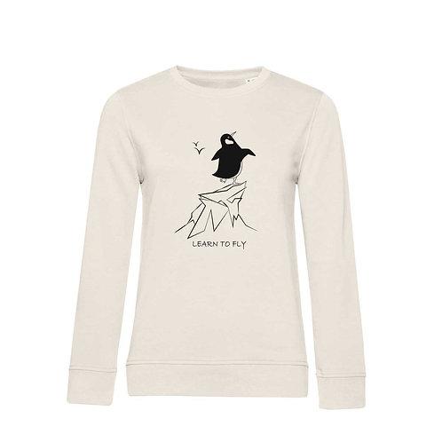 Organic Woman Sweatshirt Natural - Pinguino
