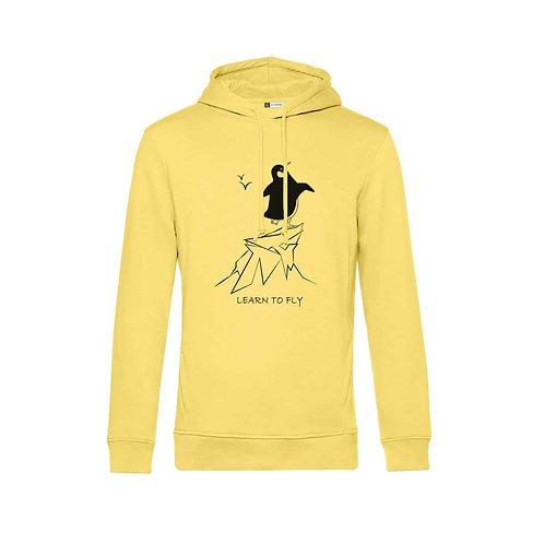 Organic Hoodie Yellow - Pinguino