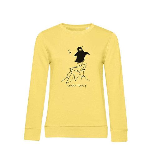 Organic Woman Sweatshirt Yellow - Pinguino