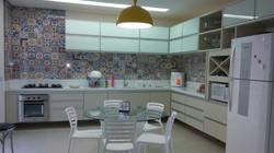 Vidros Serigrafados Branco eTampo Redondo em Vidro Temperado para Mesa