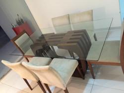 Tampo de Mesa 6 Cadeiras 1.80 x 1.00 em Vidro Temperado Incolor 10mm