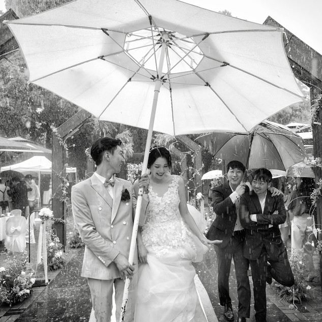 A rainy day wedding [about time.]