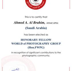 14-  Ahmed A. Al Brahim , HonFWPG certif