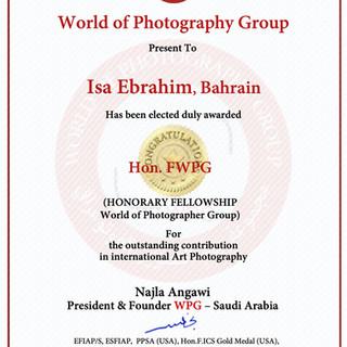 Isa Ebrahim, Bahrain -Diploma-Hon.FWPG.j