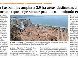 CONCURSO PARQUE URBANO LAS SALINAS EN EL MERCURIO DE SANTIAGO