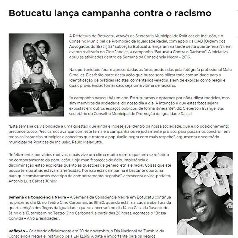 Botucatu contra o Racismo
