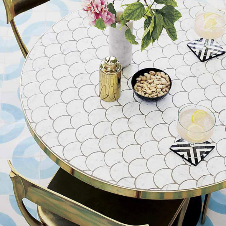 scallop-tile-brass-trim-table