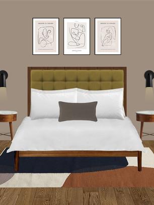 Hotel room design ideas using Dulux Brave Ground