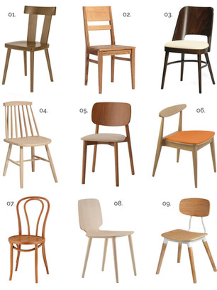 9 wooden commercial side chairs under £150