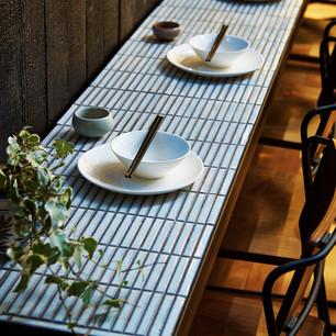 Interior design inspiration: tiled table tops