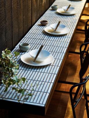 Interior design inspiration: tiled table tops