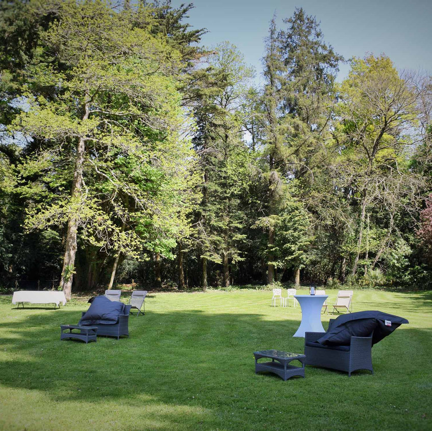 Le parc avant l'arrivée des mariés