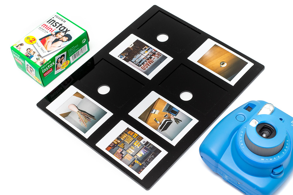 Die Polaroid Scan Maske ist auch für Fuji Instax Mini Filme erhältlich