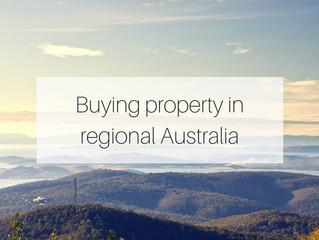 Where to buy property in regional Australia