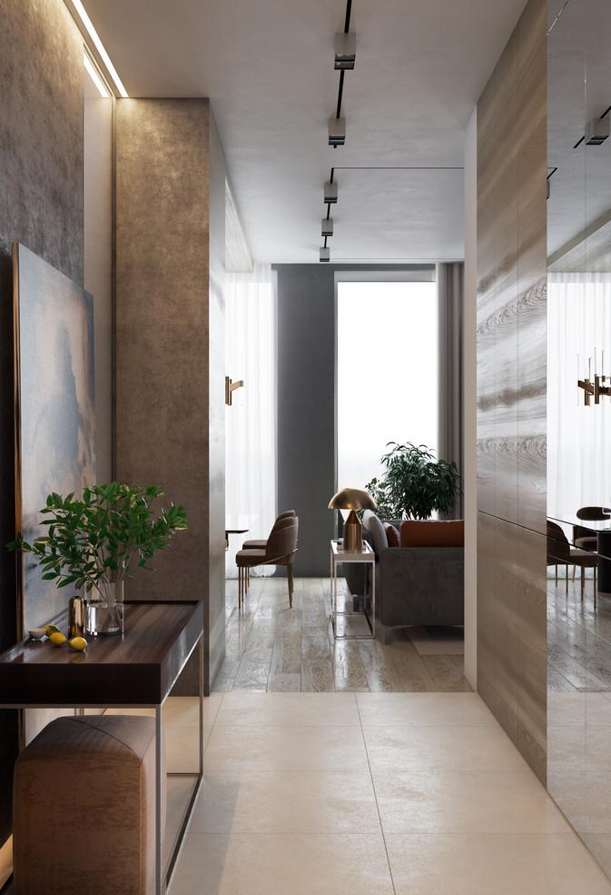 Вид из коридора в гостиную