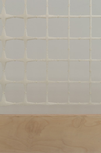 White Beinecke Library Facade Truss model designed by Heneghan Peng Architects at the Venice Biennale 2018