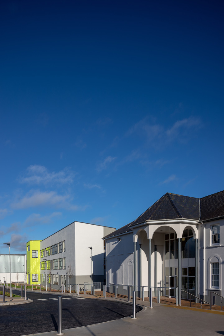 Existing building and extension at Colaiste Iosaef, Kilmallock, Limerick