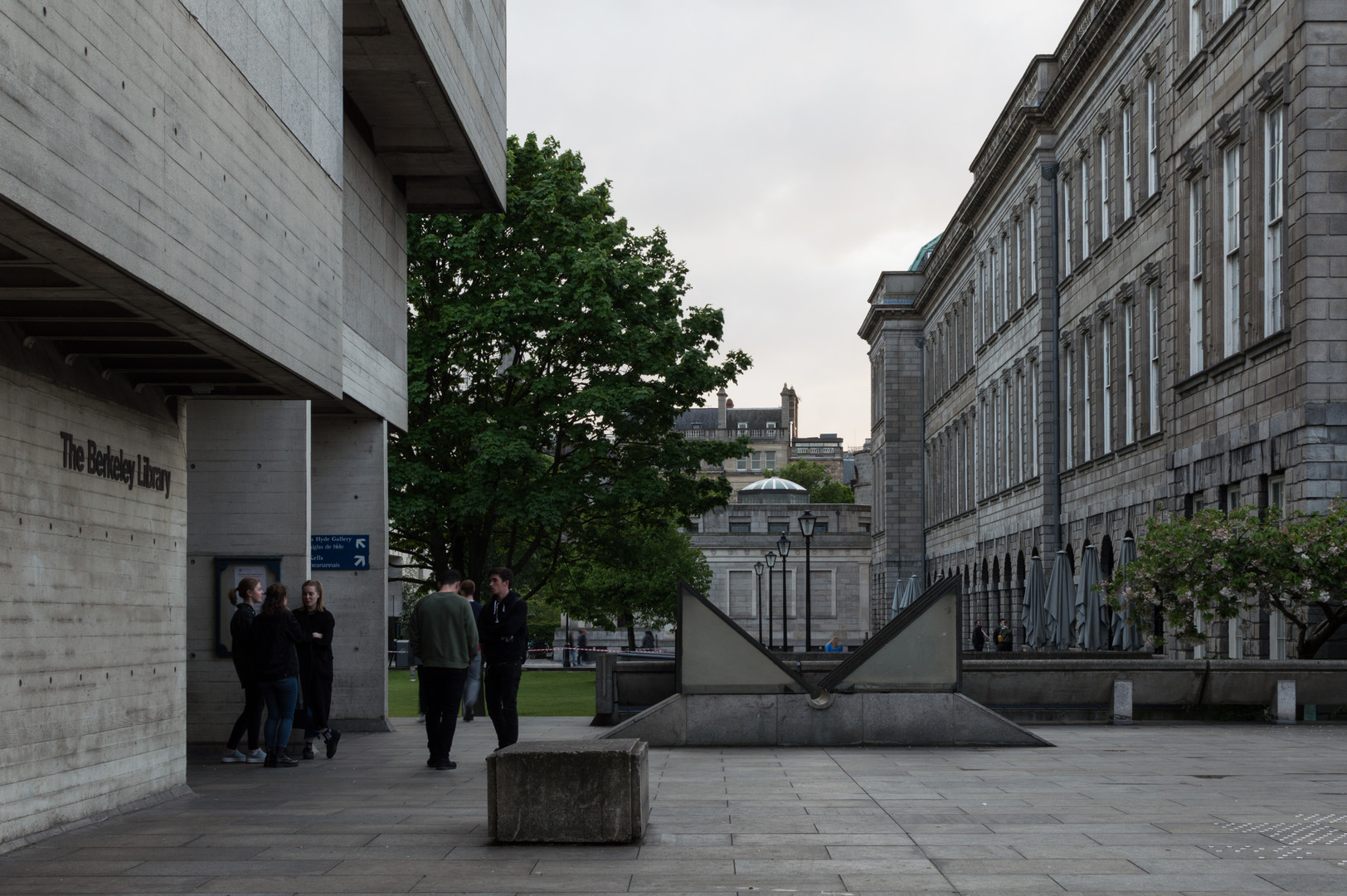 Raised courtyard of Berkeley Library, Trinity College, Dublin