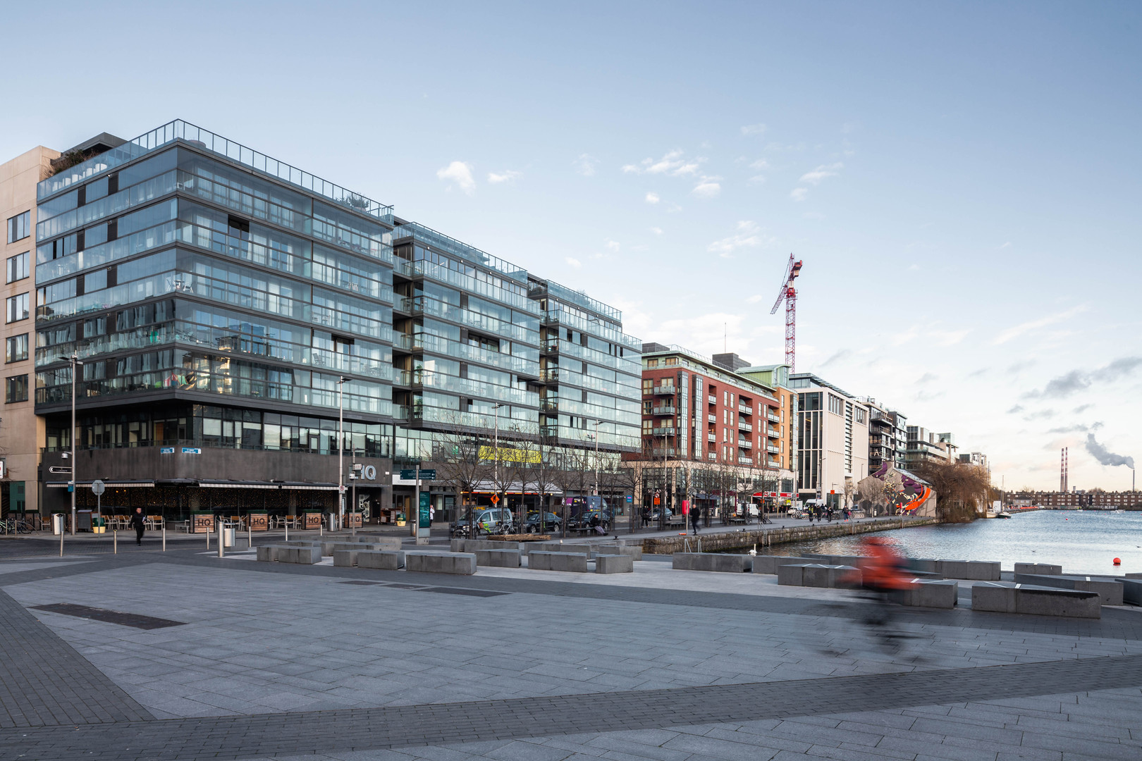 Hanover Quay from Grand Canal Square in Dublin