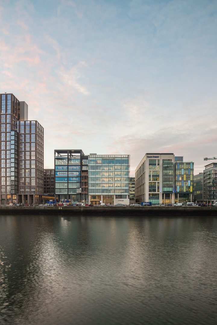 View of Capital Dock from across the Liffey in Dublin