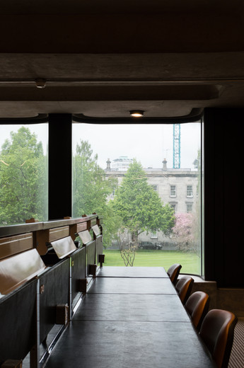 Reading desks on the first floor of the Berkeley Library, Trinity College, Dublin