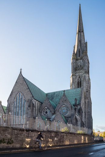 View from Garryowen Road of St.John's Cathedral, Limerick