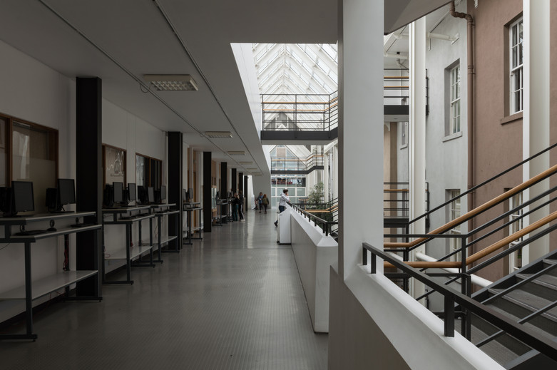 Internal atrium of O'Reilly Institute at Trinity College, Dublin