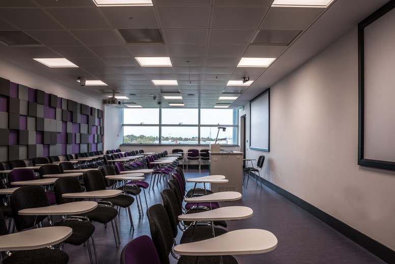 Classroom interior of Stokes Building Extension at DCU, Dublin