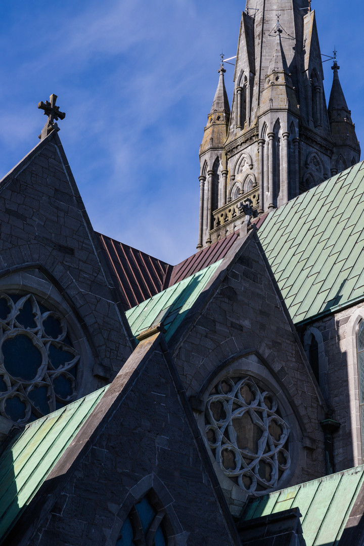 Copper roof of St.John's Cathedral, Limerick