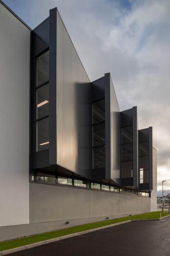 External view of P.E windows at Colaiste Iosaef, Kilmallock, Limerick