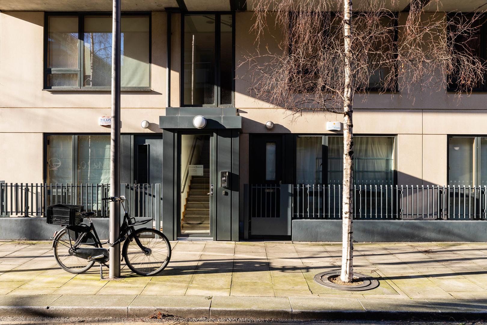 Entrance to apartments of Hanover Quay in Dublin along Asgard Road