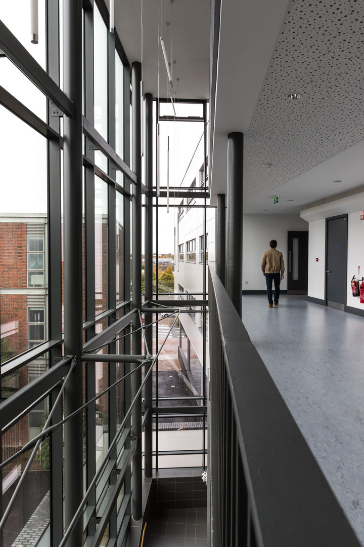 Interior of stairwell of Stokes Building Extension at DCU, Dublin