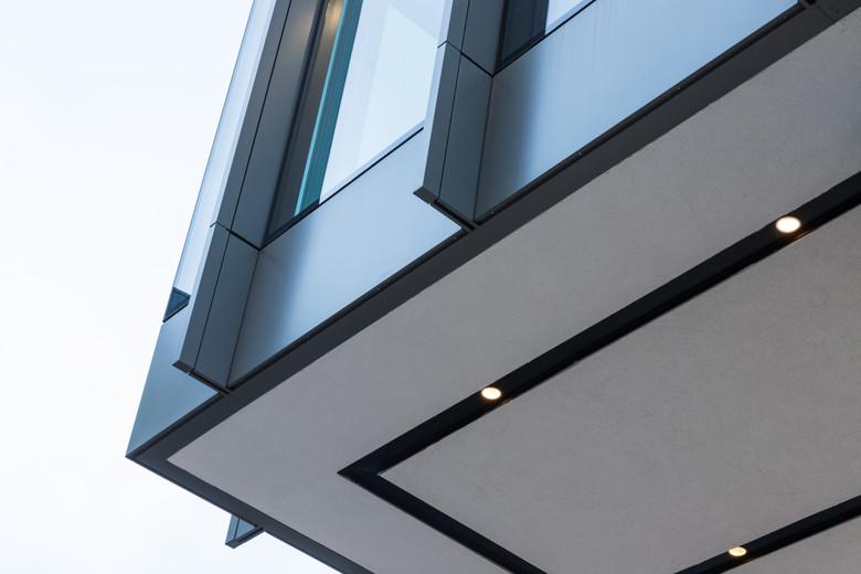Detail of aluminum fins of4-5 Harcourt Road