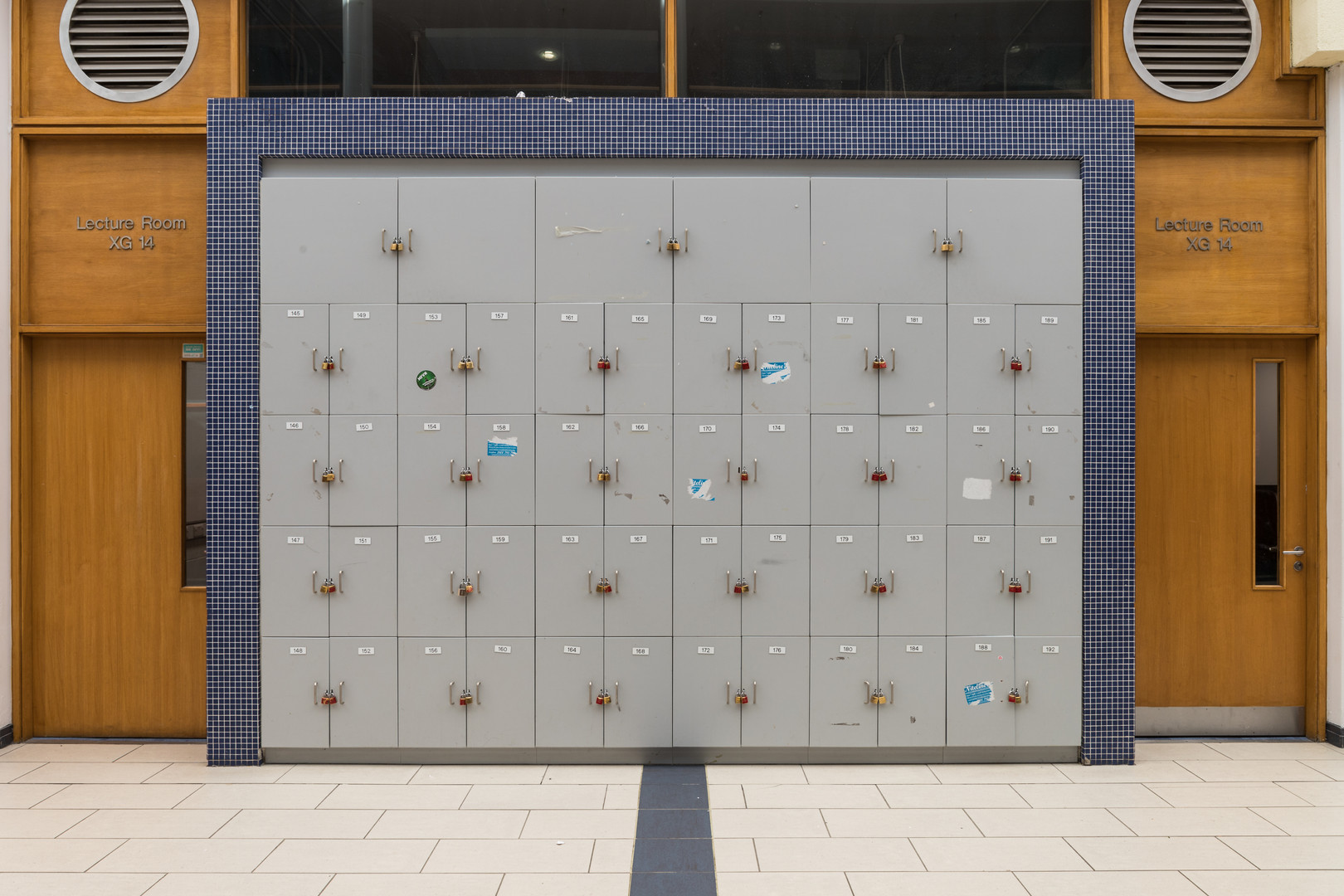 Lockers in the Chemical and Biological Sciences Building in UCD, Dublin