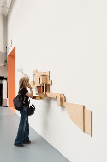 Model hung on wall designed by Boyd Cody Architects at Venice Biennale 2018