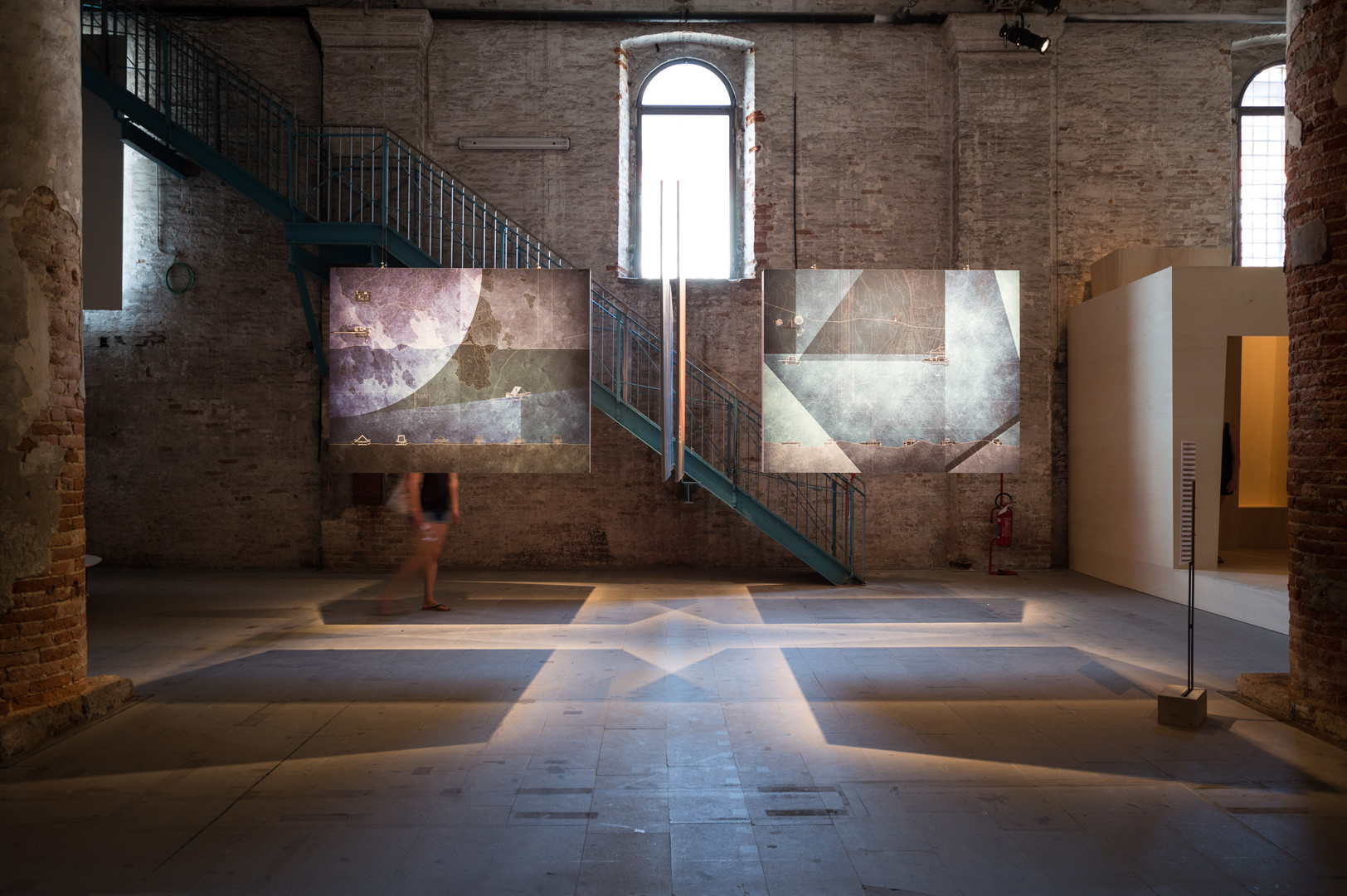 Two hanging drawings of Angela Deuber Architect's pavilion at the Venice Biennale 2018