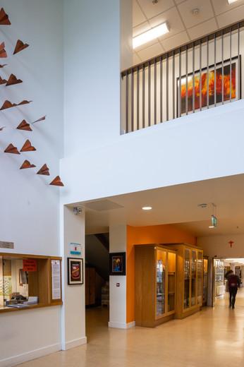 Interior of entrance of Ardscoil Ris, Limerick