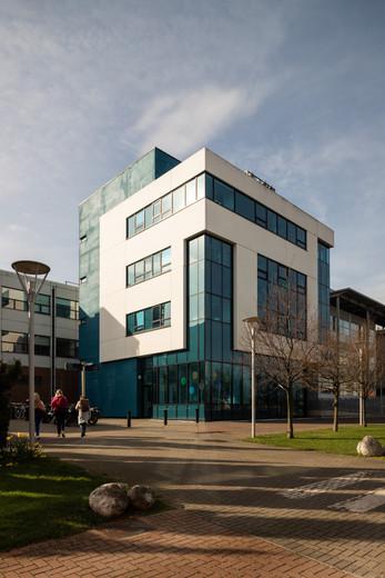 Elevation of The Biomedical Diagnostics Institute in DCU, Dublin