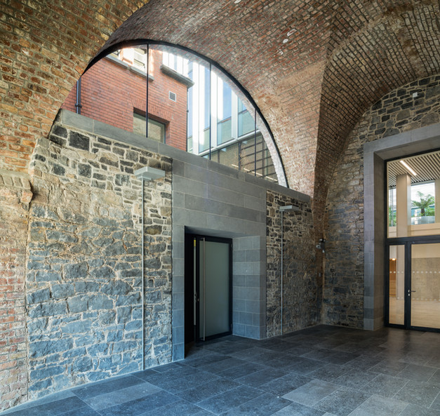 Interior stone vaults of the Hanging Gardens in Limerick