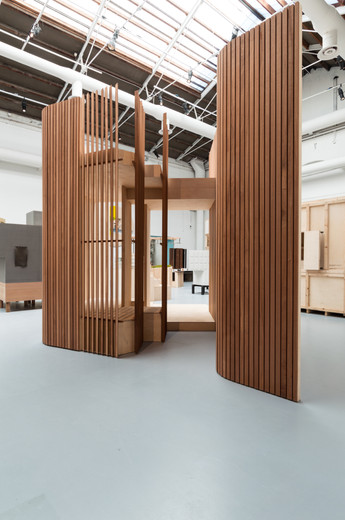 Timber pavilion, El Girasol, designed by GKMP Architects at the Venice Biennale 2018