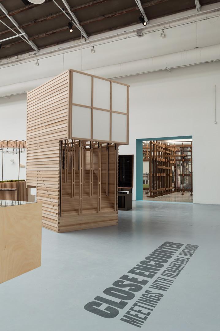 A timber pavilion designed by Steve Larkin Architects at the Venice Biennale 2018