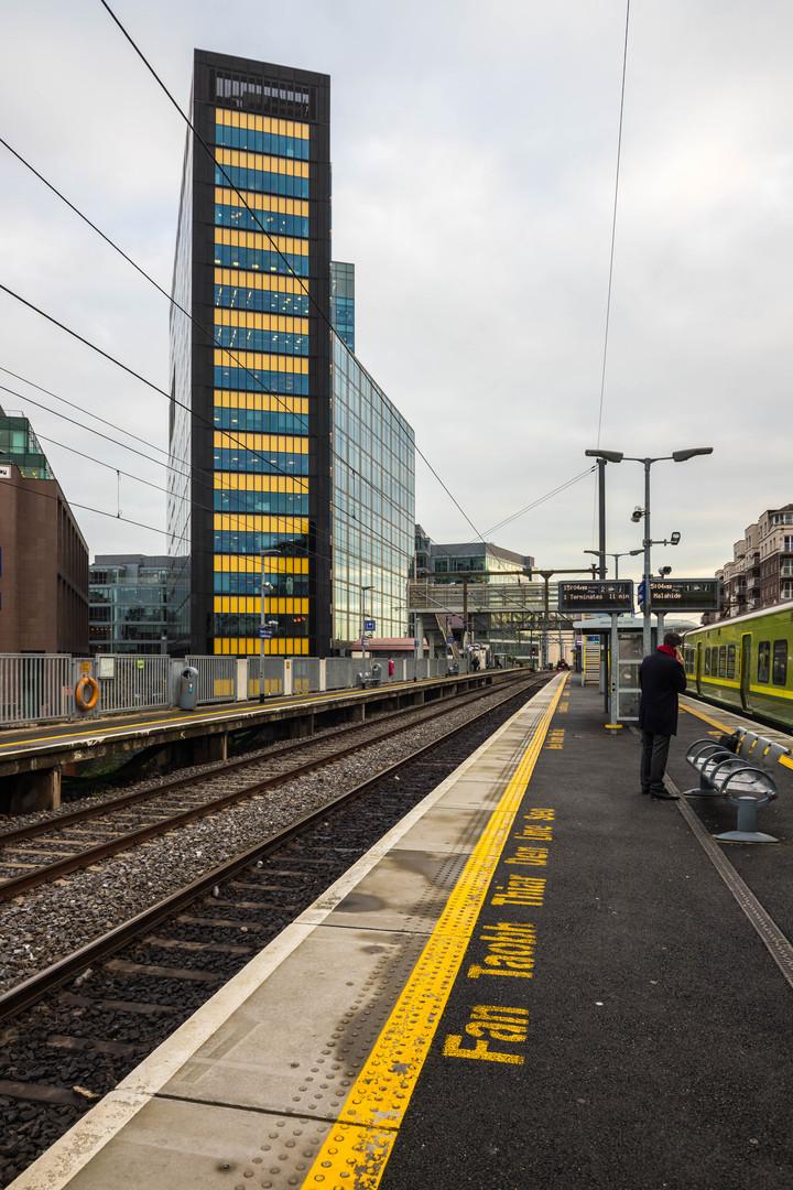 Track in front of Montevetro in Dublin