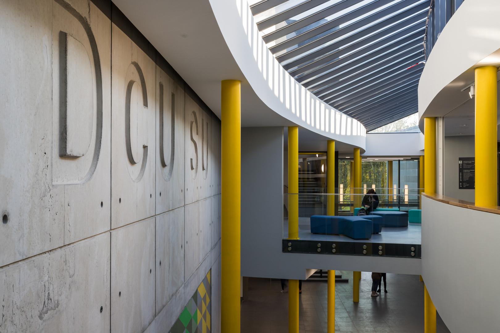 First floor of main atrium of Student Hub in DCU, Dublin