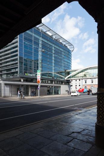 Glazed facade of the Naughton Institute, Trinity College, Dublin