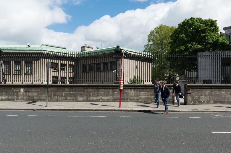 Nassau Street entrance to Trinty College, Dublin