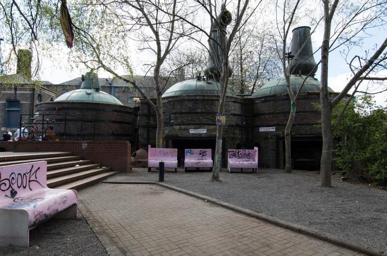 Pot Stills in the courtyard in NCAD campus, Dublin